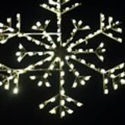 Electric Snowflake Poster