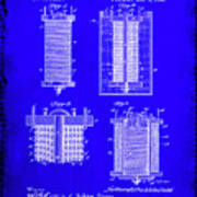 Electrical Battery Patent Drawing 1e Poster