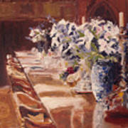 Elegant Dining At Hearst Castle Poster
