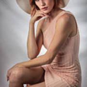 Elegant Johanna In Peach Poster