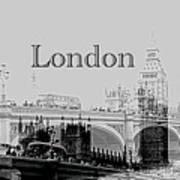 Elegant London Poster