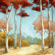 Elegantredforest Poster