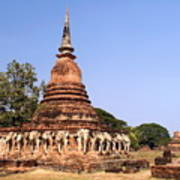 Elephant Chedi Historical Place Poster