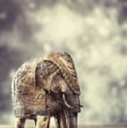 Elephant Figure Poster