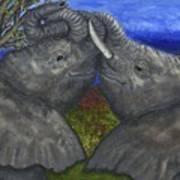 Elephant Hugs Poster