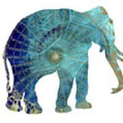 Elephant Maps Poster