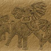 Elephants Three Poster