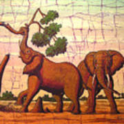 Elephants View Poster