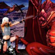 Elf Vs Dragon Poster