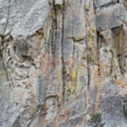 Elijah Weber Climbs A Route Called Thin Slice  Poster