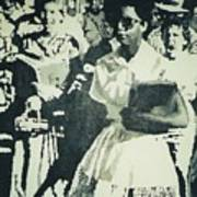 Elizabeth Eckford Making Her Way To Little Rock High School 1958 Poster