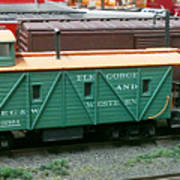 Elk Gorge And Western Caboose Poster