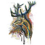 Elk Head Poster