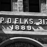 Elks Building 1889 Poster