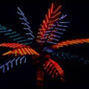 Ellas Neon Palm Poster