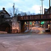 Ellicott City Nights - Entrance To Main Street Poster