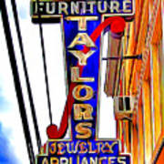 Ellicott City Taylor's Sign Poster
