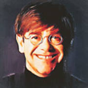 Elton john young portrait Poster