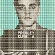 Elvis Army Mug Shot - Blue Poster
