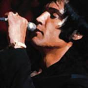 Elvis Black Poster
