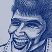 Elvis In Blue Poster