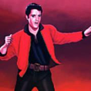 Elvis Presley 4 Painting Poster