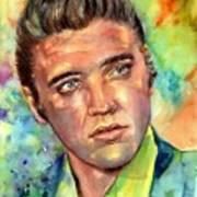 Elvis Presley watercolor Poster