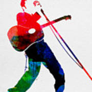 Elvis Watercolor Poster