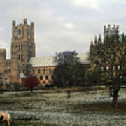 Ely Cambridgeshire, Uk.  Ely Cathedral  Poster