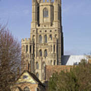 Ely Cathedral West Tower Poster