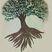 Embroidered Tree Poster
