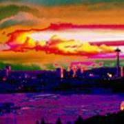 Emerald City Sunset Poster