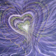 Emerging Heart Poster by Judy M Watts-Rohanna