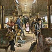 Emigrant Coach Car, 1886 Poster