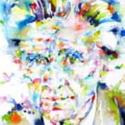 Emil Cioran - Watercolor Portrait Poster