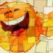 Emoticon Mosaic Cubism Poster
