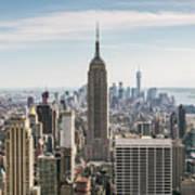 Empire State Building And Manhattan Skyline, New York City, Usa Poster