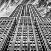 Empire State Building Black And White Poster by John Farnan