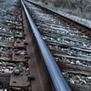 Empty Railroad Tracks Poster