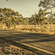 Empty Regional Australia Road Poster