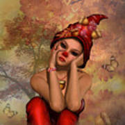 Enchanted Acorn Elf Poster