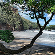 Enchanted Rocks Koki Beach Haneoo Hana Maui Hawaii Poster