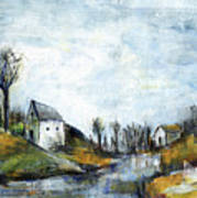 End Of Winter - Acrylic Landscape Painting On Cotton Canvas Poster