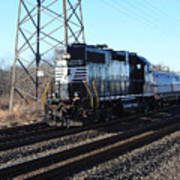 Engine 5664 Passing Bye Poster