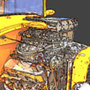 Engine Sketch 2 By Darrell Hutto Poster