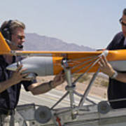 Engineers Mount A Scaneagle Unmanned Poster