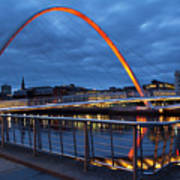 England, Tyne And Wear, Gateshead Millennium Bridge. Poster