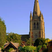 English Country Church Poster