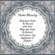 English Home Blessing Poster