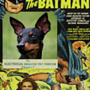 English Toy Terrier Art Canvas Print - Batman Movie Poster Poster
